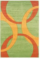 Linon Corfu Collection Lime/ Goldenrod Area Rug (8' x 10'3)