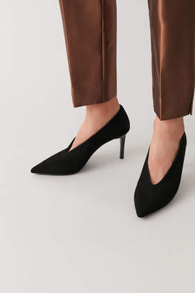 Cos POINTED SUEDE HEELS