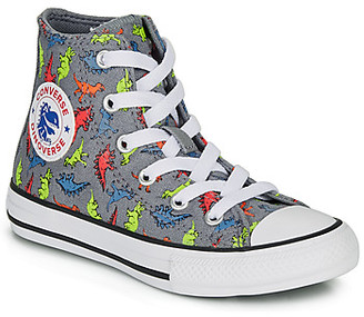 Converse CHUCK TAYLOR ALL STAR DINOVERSE HI boys's Shoes (High-top Trainers) in Grey