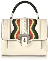 Paula Cademartori Petite Faye White Leather Satchel Bag