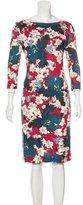 Erdem 2015 Floral Midi Dress