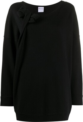 Valentino Pre Owned 2000s Bow Detail Oversized Sweatshirt