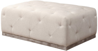 Moti Boyd Ivory Tufted Ottoman, Rectangle