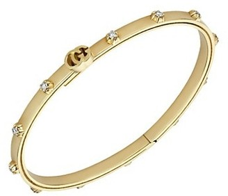 Gucci Running GG 18K Yellow Gold & Diamond Bracelet