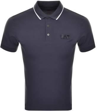 Emporio Armani Ea7 EA7 Tipped Polo T Shirt Blue