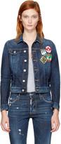 DSQUARED2 Blue Denim Patches Jacket