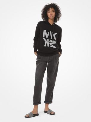 MICHAEL Michael Kors Graphic Logo Wool-Blend Hoodie