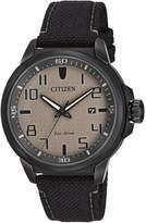 Citizen Men's Eco-Drive AR Black Nylon Strap Watch