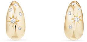David Yurman 15mm Pure Form Hoop Earrings with Diamonds