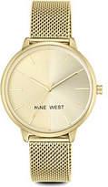 Nine West Ladies Goldtone Laynien Mesh Bracelet