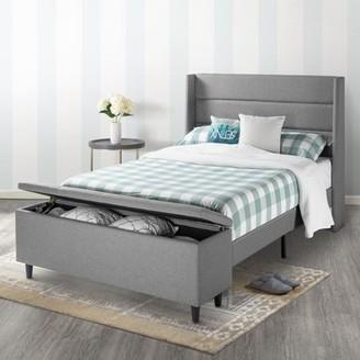 Best Price Mattress Modern Upholstered Platform Bed with Headboard