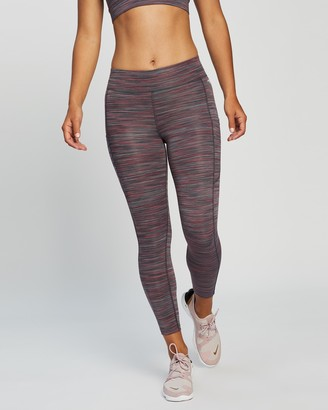 Running Bare Women's Purple Tights - Ab Waisted Flex Zone 7-8 Tights - Size 18 at The Iconic