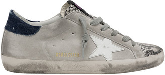 Golden Goose Superstar Python-Print Suede Sneakers