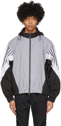 Minotaur White and Black Stripe Jacket