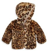 Splendid Baby Girl's Leopard Faux Fur Jacket