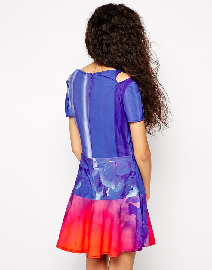 Liquorish Skater Dress in Digital Print