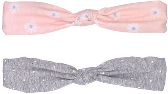 Fruit of the Loom Baby Girl 2-Pack Knotted Headwraps