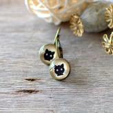 JuJu Treasures Black Cat Earrings