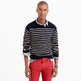 Lambswool crewneck sweater in stripe