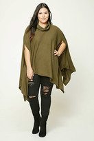 Forever 21 FOREVER 21+ Plus Size Cowl Neck Poncho