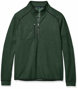 Cutter & Buck Men's Big & Tall Half Zip Jacket