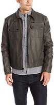 Kenneth Cole New York Men's Faux Suede Zip Front Jacket