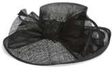 Nordstrom Women's Sinamay Bow Derby Hat - Black
