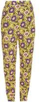 Marni Asticon-print high-rise straight-leg trousers