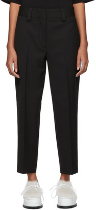 Acne Studios Black Pique Trousers