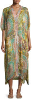 L-Space L Space Button-Front Semisheer Coverup, Multi Pattern