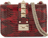 Valentino Mini lock snake mini leather shoulder bag