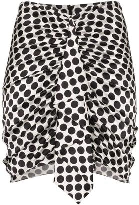 Alexandre Vauthier Ruffled Polka-Dot Mini Skirt