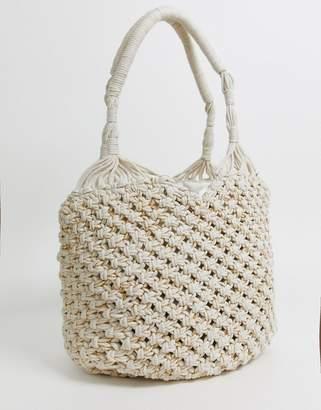 Cleobella kingston beach tote bag-White