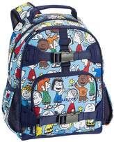 Pottery Barn Kids Small Backpack, Mackenzie Grey/Blue Peanuts
