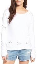 Pam & Gela Women's 'Annie' Destroyed High/low Sweatshirt
