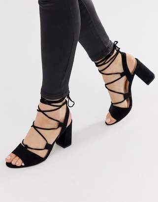 Miss KG gladiator block heeled sandal-Black