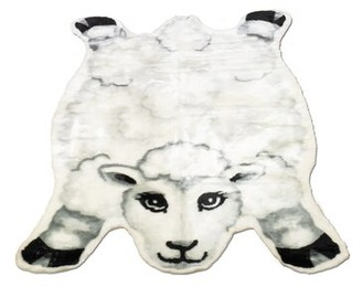 "Zoomie Kids SanderSon Sheep Rug Rug Size: Novelty 3'3"" x 4'7"""