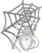 Ever Faith Spider Web Teardrop Brooch Austrian Crystal Halloween A09853-3