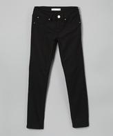 YMI Jeanswear Black Hyper-Stretch Skinny Jeggings - Girls