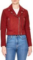 Sandro Women's Adaya Leather Zip Jacket