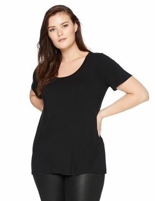 Daily Ritual Women's Plus Size Jersey Short-Sleeve Scoop Neck Shirt 2X
