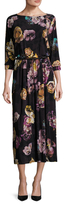 Max Mara Agitare Floral Printed Midi Dress