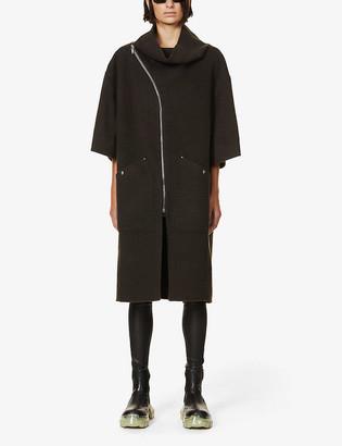 Rick Owens Mountain high-neck cashmere coat