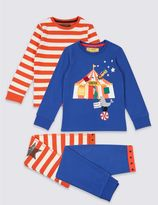 Marks and Spencer 2 Pack Pyjamas (9 Months - 8 Years)