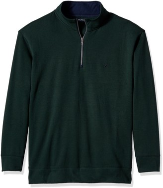 Nautica Men's Big and Tall Quarter-Zip Sweater