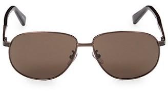 Ermenegildo Zegna 62MM Metal Aviator Sunglasses