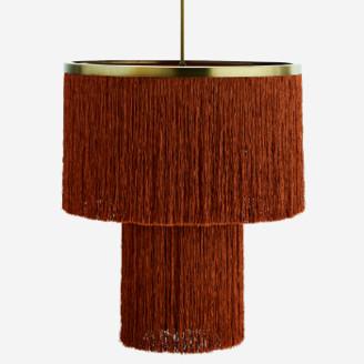 Madam Stoltz - Burned Orange Tassel Ceiling Lamp - Burned Orange
