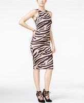 XOXO Juniors' Printed Racerback Bodycon Midi Dress