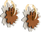 Marni patch hoop earrings
