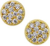 Giani Bernini Cubic Zirconia Stud Earrings (2/5 ct. t.w.) in 18k Gold over Sterling Silver